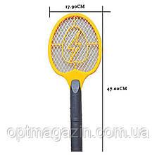 Электрическая мухобойка в виде ракетки на батарейках Bug Catcher, фото 3