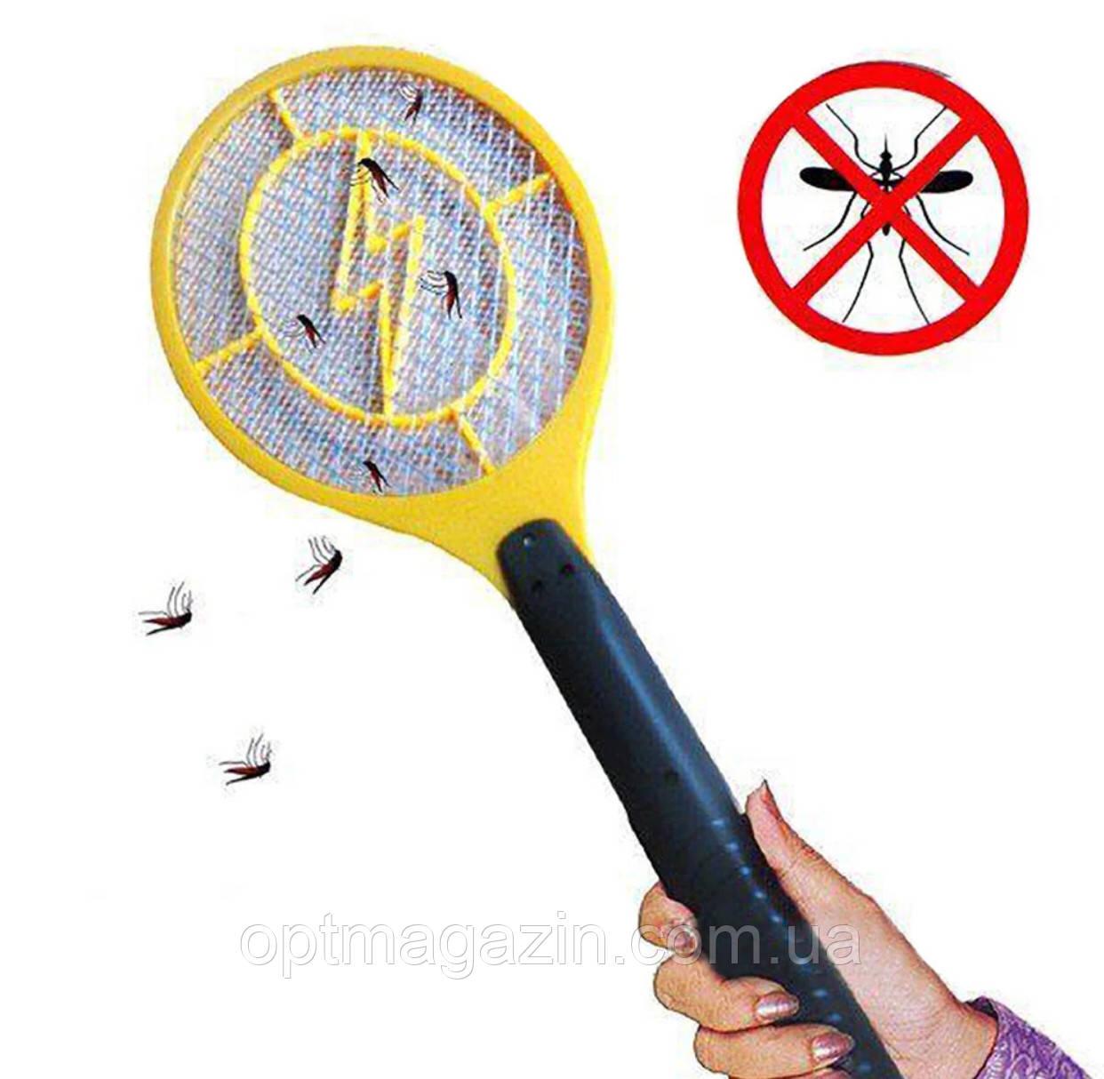 Електрична мухобойка у вигляді ракетки на батарейках Bug Catcher