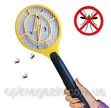 Електрична мухобойка у вигляді ракетки на батарейках Bug Catcher, фото 2