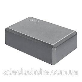 Блок для йоги 4FIZJO Grey SKL41-277652