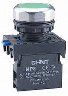 Кнопка NP8-01BN / 3 1NC Зеленая, CHINT [667230]