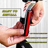 Яркий велосипедный фонарь со встроенным аккумулятором (RED, 500mAh, 26 COB led, 6 режимов, USB) Вело мигалка, фото 2