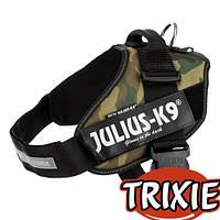 Шлея Trixie Julius-K9® IDC тренировочная, для щенков, 71-96 см х 50 мм, камуфляж