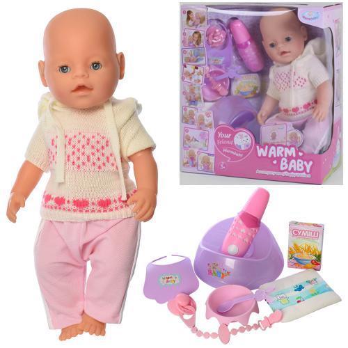 """Пупс """"Baby"""" с магнитной соской (Warm baby) арт. 058 A-557"""