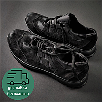 Замшевые кроссовки треккинговые Тактические кроссовки  ZAMISTO Кожа Нубук Черный(ЗМ С-902)38