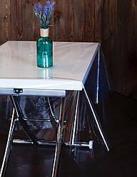 Прозрачная скатерть на кухонный стол, клеенка силиконовая