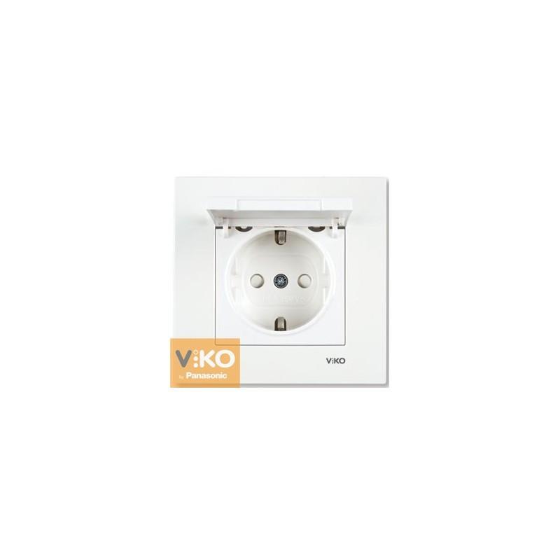 Розетка із заземленням і кришкою VIKO Karre - Білий