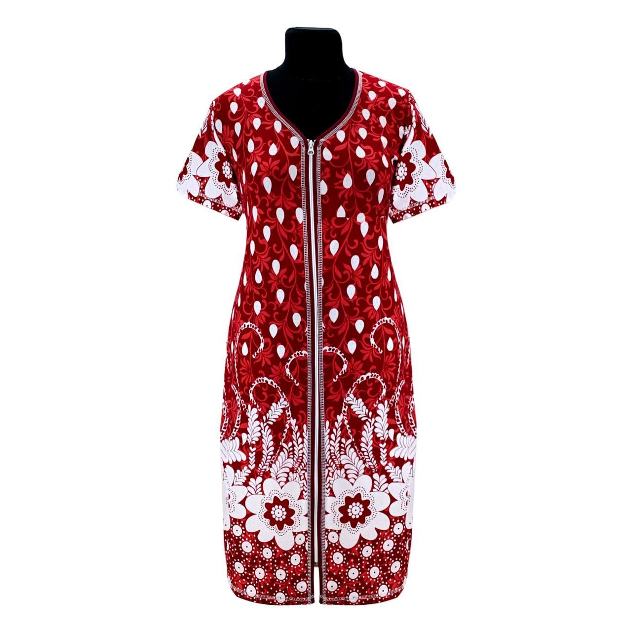 Красивый женский халат купон  кружево бордовое с 44 по 66 размер
