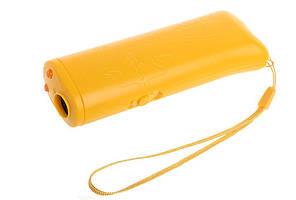 Ультразвуковой отпугиватель собак c фонариком и функцией тренировки Chang Fong AD-100 желтый(3145)