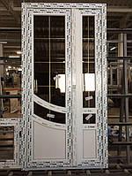 Двери входные двухстворчатые c шпросами 6-камерный профиль WDS 1150x2100 мм