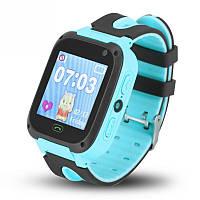 Детские умные часы с GPS UWatch F2 с фонариком и камерой голубой