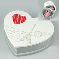 """Необычная шкатулка для драгоценностей """"Сердце Парижа"""" (19*16*6 cм)"""