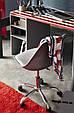 Кресло на колесах Астер, пластик ,сиденье с подушкой, цвет серый., фото 2