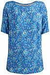 Блузка женская Finn Flare B19-110105-122 c коротким рукавом голубая, фото 6