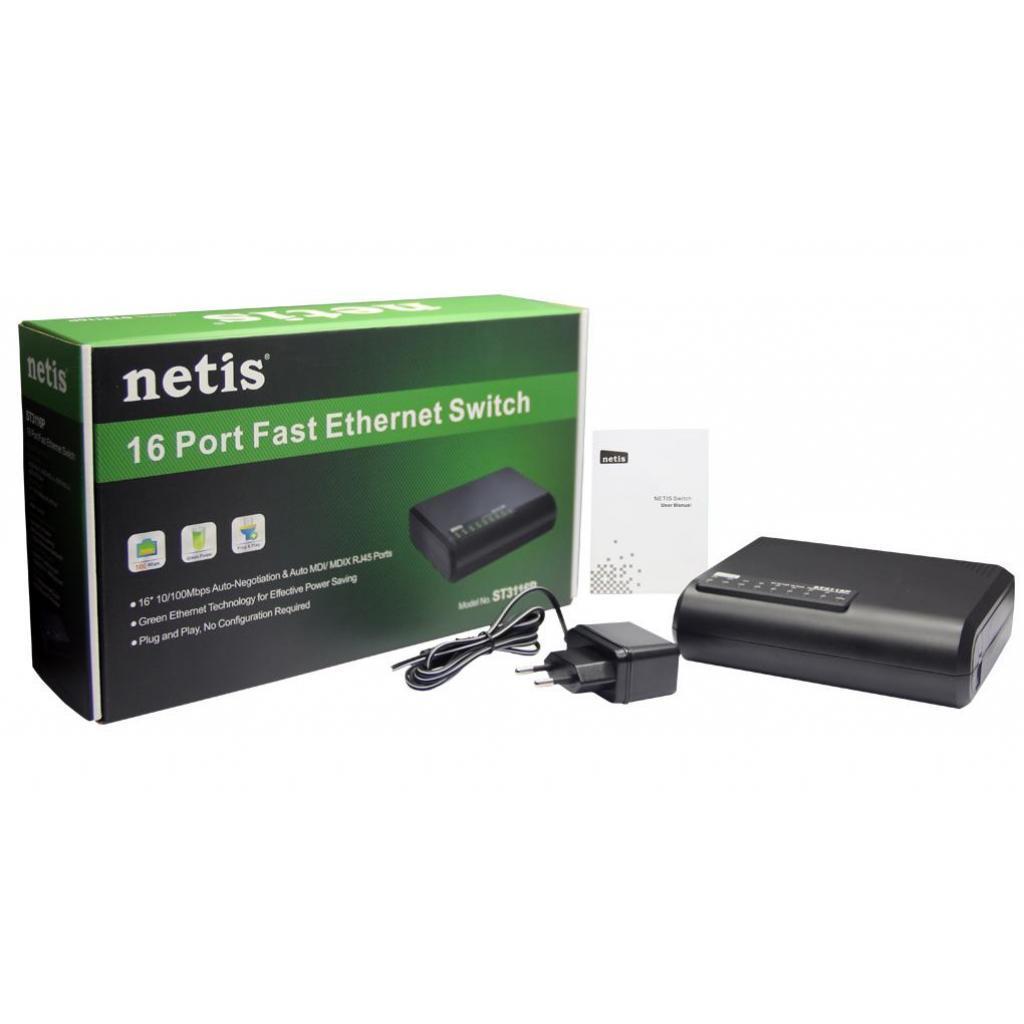 Коммутор Netis ST3116P 16-портовый