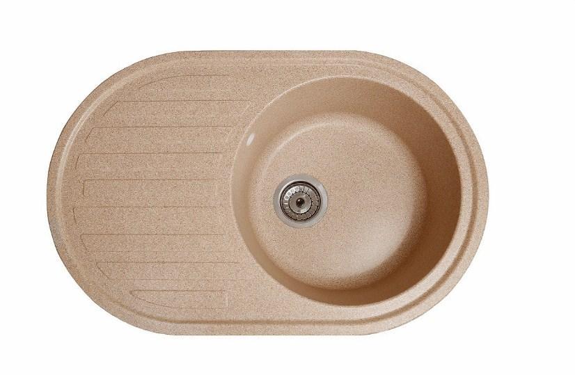 Кухонная гранитная мойка с крылом Galati Elegancia Piesok (301)