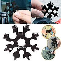 """Мультитул (набор ключей) 18 в 1 """"Снежинка"""" (отвертка, шестигранник, гаечный ключ) Black (5626)"""
