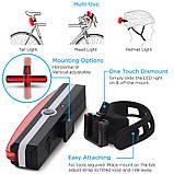 Яркий велосипедный фонарь со встроенным аккумулятором (WHITE, 500mAh, 26 COB led, 6 режимов, USB) Вело мигалка, фото 4
