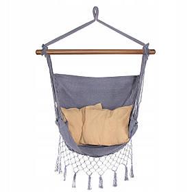 Кресло-гамак сидячий (бразильский) с подушками Springos 130 x 100 см HM021