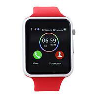 Умные часы телефон Smart Watch A1 Red УЦЕНКА(143403)
