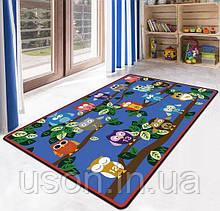 Коврик прямоугольный в детскую комнату Homytex 140*190 Owls