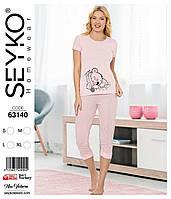 Женская пижама бриджи с футболкой хлопок Miss Victoria Турция размер M (46)