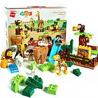Конструктор блочный Зоопарк 51 деталь Qman.Зоопарк,животные.