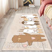 Коврик прямоугольный в детскую комнату Homytex 140*190 Animals