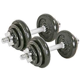 Гантели разборные (2шт по 10 кг ) стальные 20кг TA-8212-20
