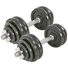 Гантели разборные (2шт по 15 кг) стальные 30кг TA-8214-30