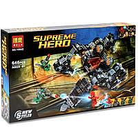 Конструктор. Лего GTM Supreme Heroes 646 деталей Разноцветный.