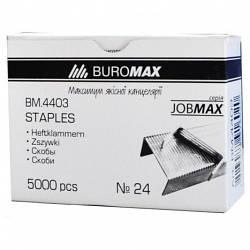 Скобы №24/6, JOBMAX, 5000 шт.(BM4403)