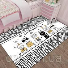 Коврик прямоугольный в детскую комнату Homytex 140*190 Cats