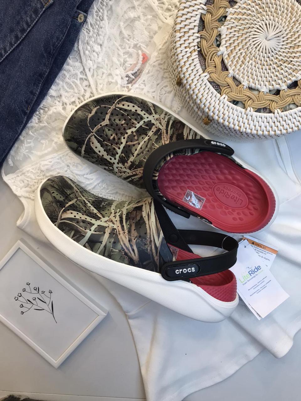 Мужские кроксы Crocs LiteRide™ Clog камуфляжные 40-41 р.