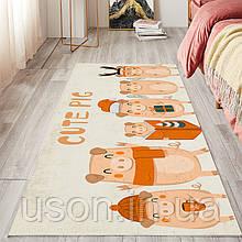 Коврик прямоугольный в детскую комнату Homytex 140*190 Cute pig