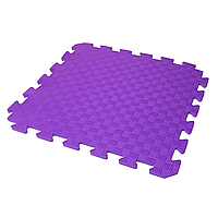 Дитячий Татамі 50х50х1 см Фіолетовий (м'який килимок-пазл ластівчин хвіст) IZOLON EVA KIDS, фото 1