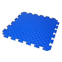 Детский коврик-пазл (мягкий пол татами ласточкин хвост) IZOLON EVA KIDS 50х50х1 см синий