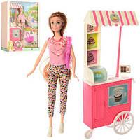 Кукла 7727-C1 28см, кафе на колесах 31-12см, аксессуары, 28,5-33-9см, фото 1