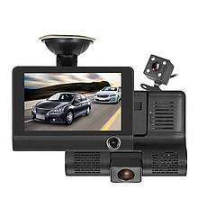 """Автомобільний відеореєстратор на 3 камери Recorder 4 """"HD 1080P"""