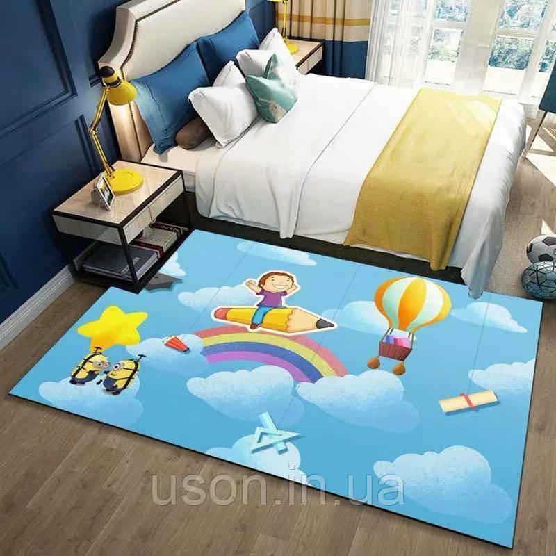 Коврик прямоугольный в детскую комнату Homytex 140*190 Rainbow