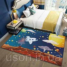 Коврик прямоугольный в детскую комнату Homytex 140*190  Space volcane