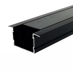 Комплект. Профиль для светодиодной ленты черный врезной 30х20 мм. ЛПВ20А Матовый, Анодированный