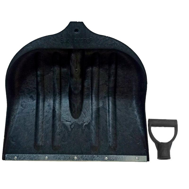 Лопата пластик для снега большая BUDMONSTER 52*42 см черная  с ручкой