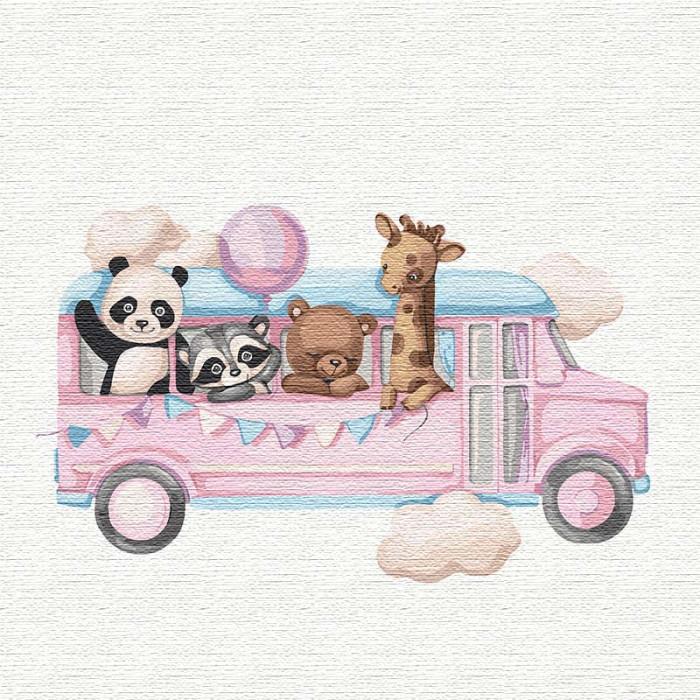 """Картина по номерам. """"Веселый автобус"""" 30*30см KHO2356"""