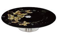 Скляне обертове блюдо 30 см, фото 1