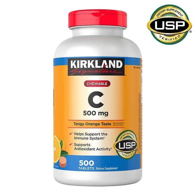 Kirkland Signature Vitamin C 500mg - Витамин C 500мг (500табл.)