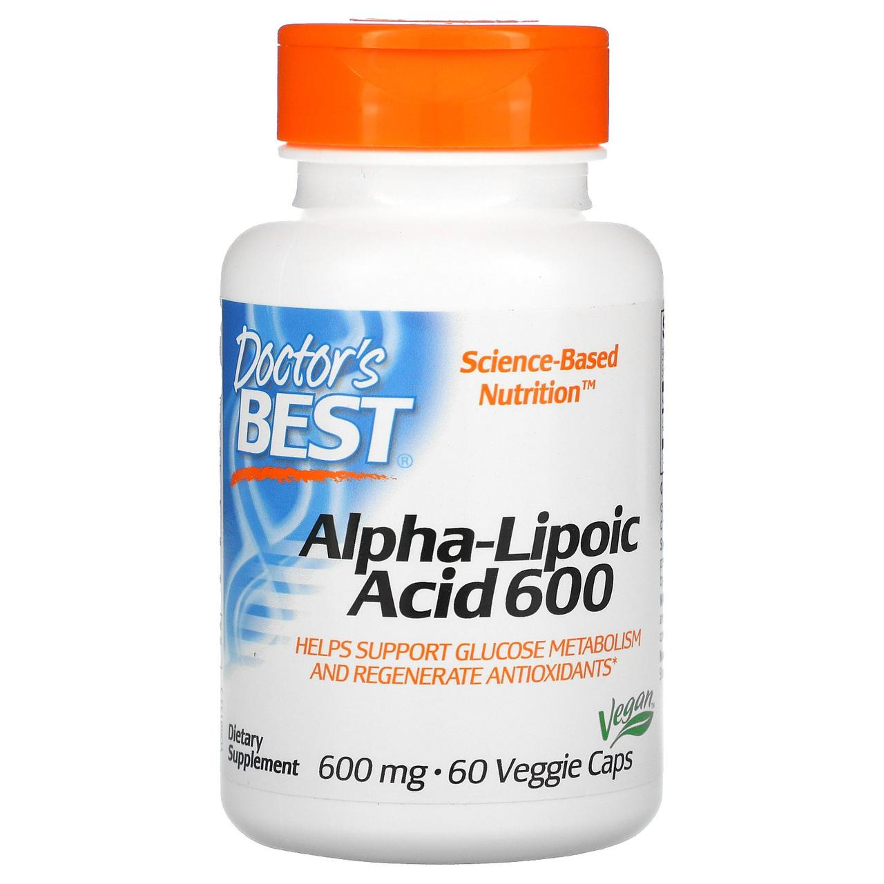 Альфа-ліпоєва кислота, 150 мг, 120 рослинних капсул, Doctor's s Best