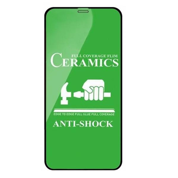 Защитное стекло-пленка Fiji Ceramics для Apple Iphone 12 черный Full Glue 0,26 мм в упаковке