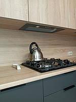 Встроенная двухуровневая угловая кухня лоджия 2,58*1,0*1,3 м 4