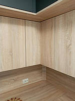 Встроенная двухуровневая угловая кухня лоджия 2,58*1,0*1,3 м 10